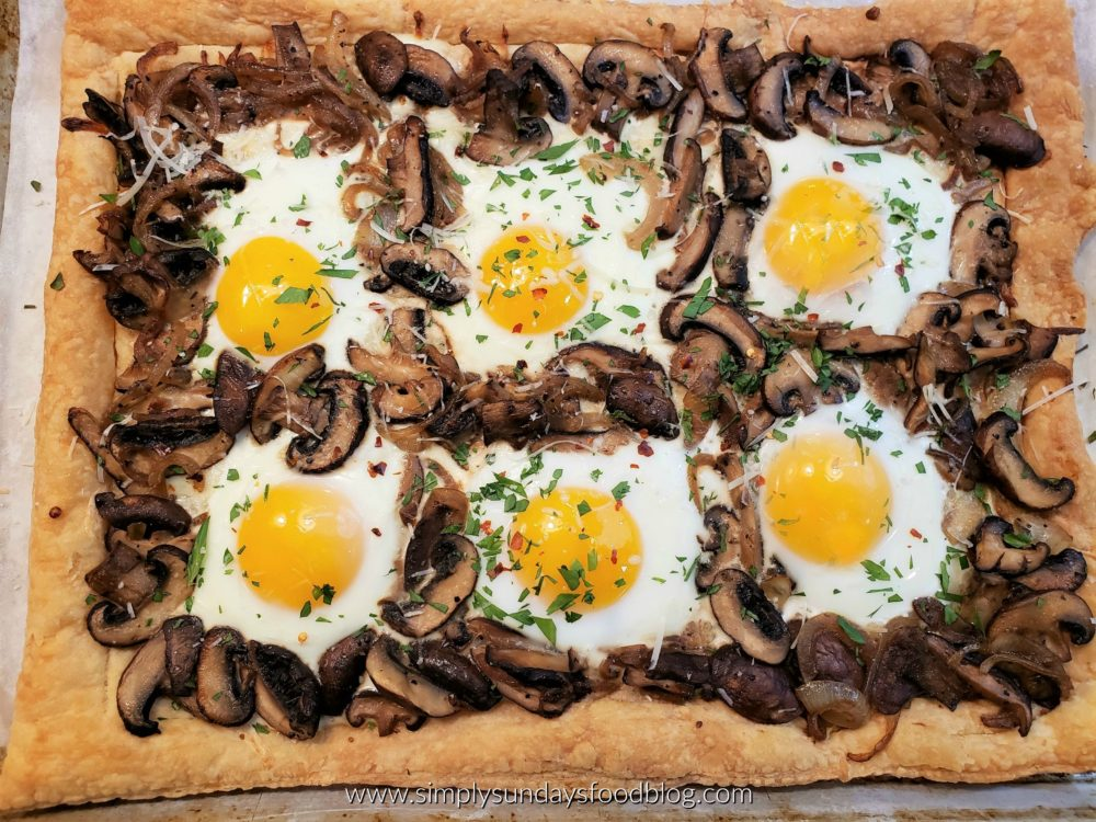 Mushroom, Onion & Egg Tart