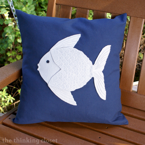 Nautical Felt Fish Pillow