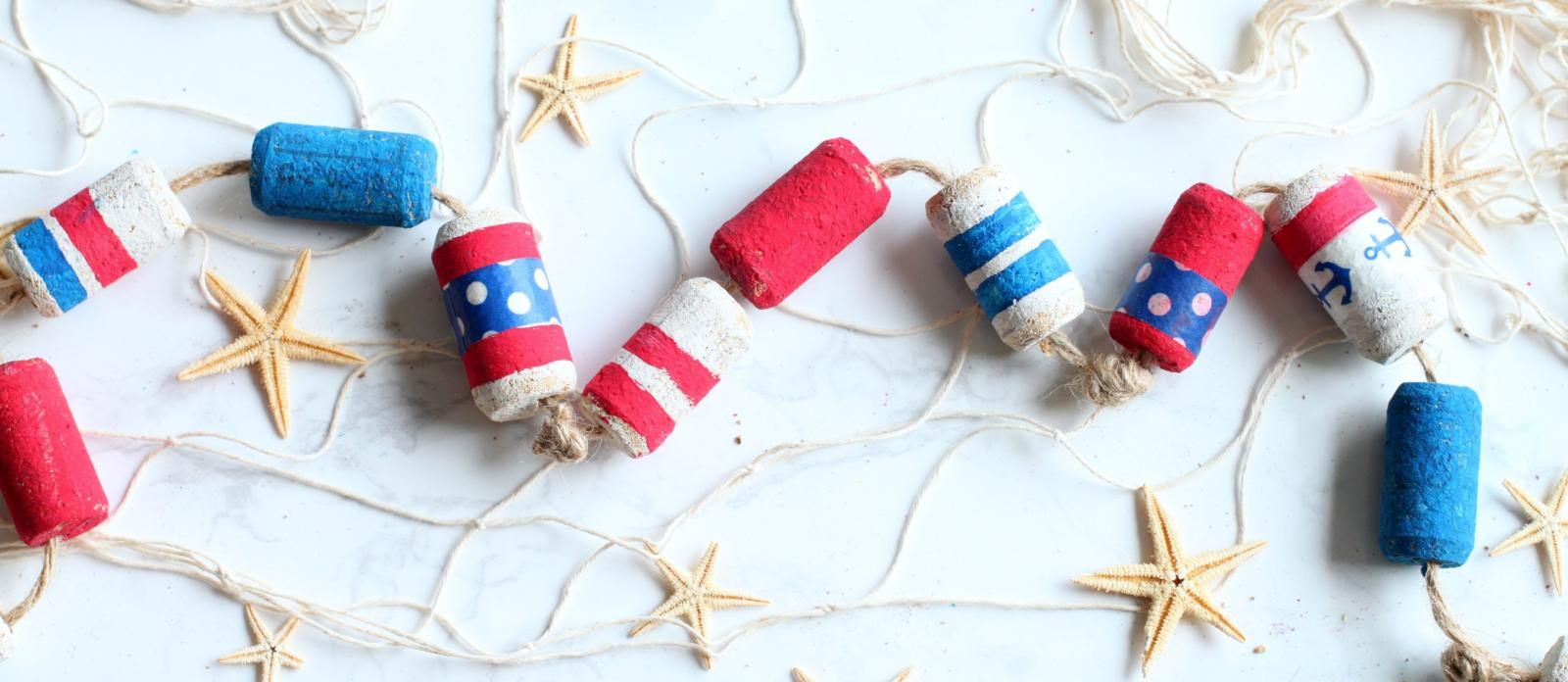 Nautical Wine Cork Garland