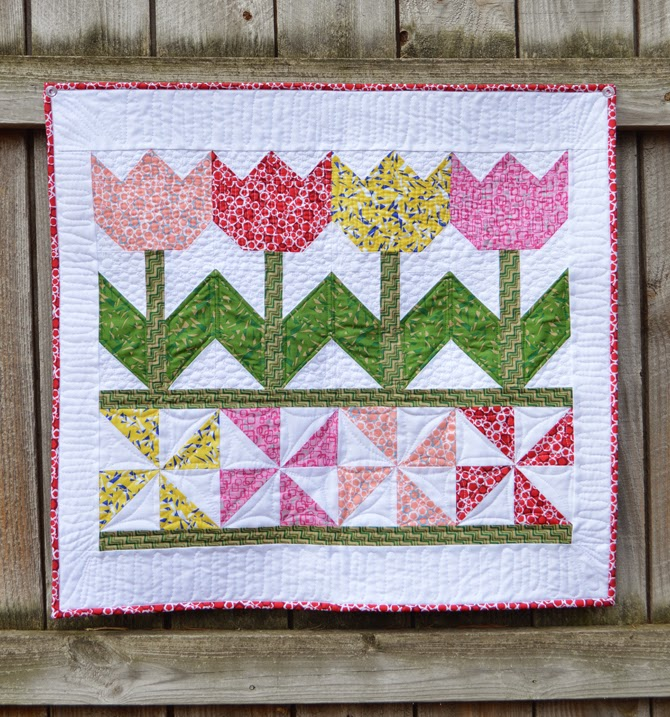 Tulip Time Wall Hanging