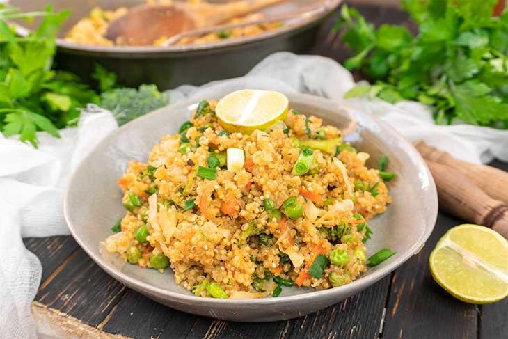 15-Min Quinoa Fried Rice