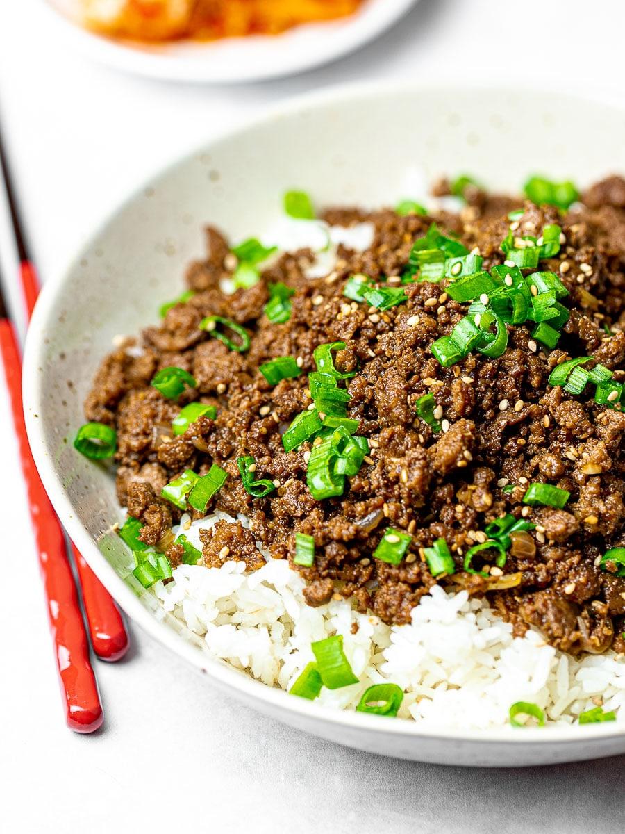 15 Minute Korean Beef Bowl