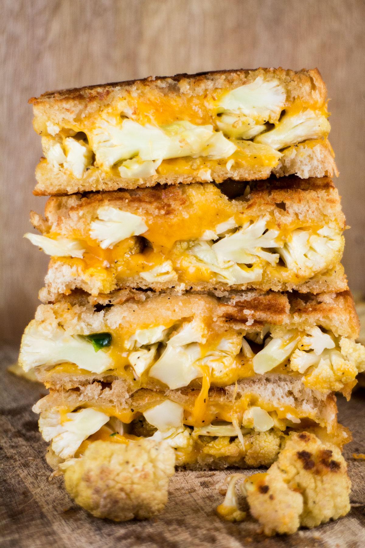 Cauliflower Grilled Cheese Sandwich