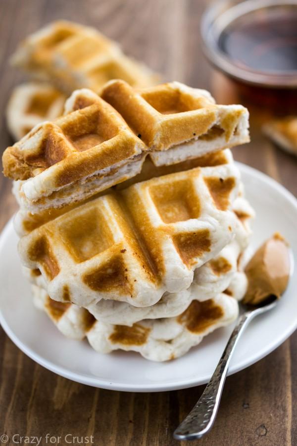 Peanut Butter Sandwich Waffles