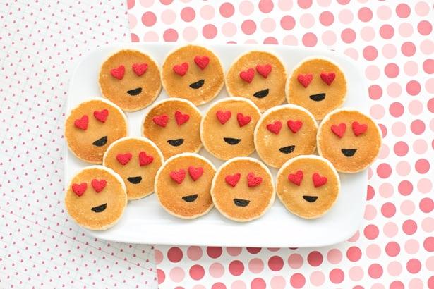 Easy Mini Emoji Pancakes