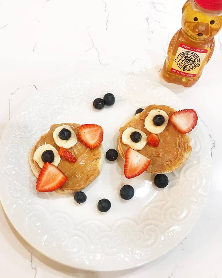 Peanut Butter and Honey Owl Pancakes