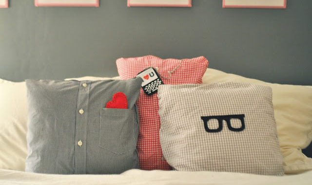 Pillow Covers From Old Shirts