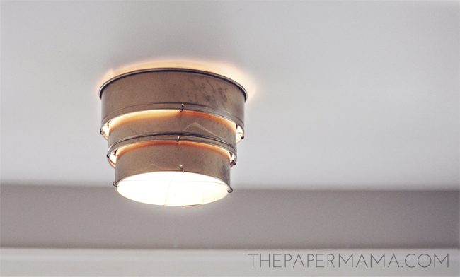 Cake Pan Lamp Shade
